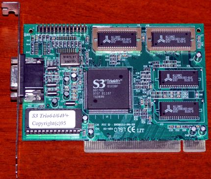 V-Plus S3 Trio64/64V+ (86C765) FCC-ID: BNX9111-96-23 PCI 1997