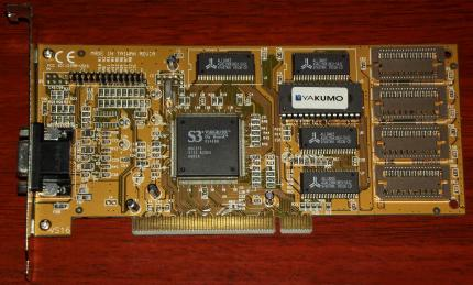 Yakumo S3 Virge DX On-Board 86C375 FCC-ID: 127MM-VS16 PCI 2MB 1997