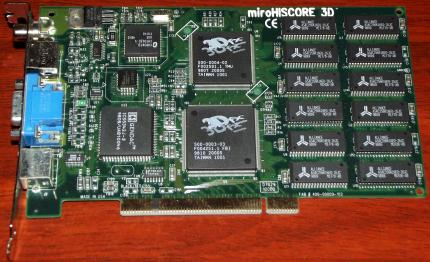 miro HiScore 3D mit Voodoo 3Dfx GPU, 6MB, TV-Out, PCI 1997