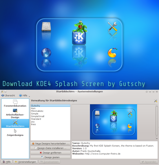 Download this KDE4 Splash Screen by Gutschy