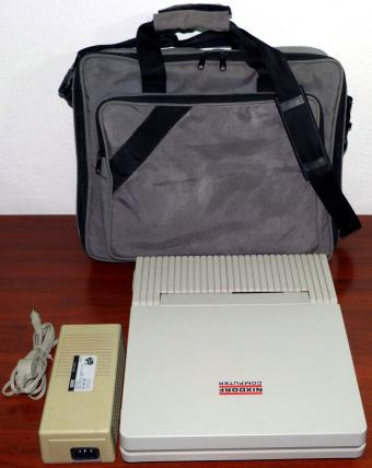 Nixdorf Computer Model: 8810 M15 Laptop, SuperTwist LCD, 80286 10MHz CPU, 640KB RAM, 2x 3.5