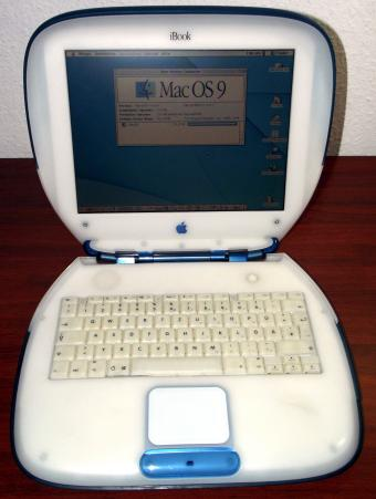 Apple iBook G3 Clamshell (Indigo) 366MHz CPU, 128MB RAM, 10GB HDD, CD-ROM, Firewire & USB, M6411
