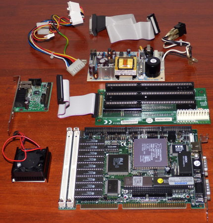 486er SBC AP4100AA V1.3 ISA inkl. AMD Am5x86-P75 CPU AMD-X5-133ADW, ALI M1429G-A1 M1431, Printer- FDC- & IDE-Connector, inkl. Soundkarte, Lüfter & Netzteil, AmiBios 1993