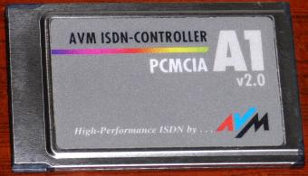 AVM A1 v2.0 ISDN-Controller PCMCIA High-Performance inkl. Kabel