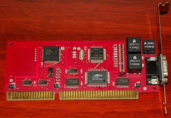 AVM ISDN Controller A1 V3.0 AVM Berlin, rotes PCB, CAPI, G3-Fax, ISA Fritz-Card