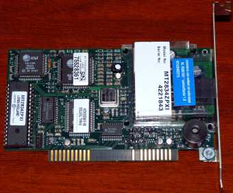 MultiTech Systems MT2834ZPXI Rev. B Holland AT&T Zilog ISA Modem