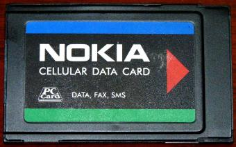 Nokia Cellular Data Card Data, Fax, SMS PC-Card Type: DTP-2 Code: 0750029 Finland