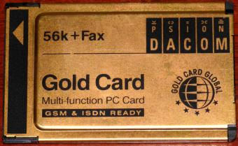 Psion Dacom 56k Fax Gold Card Global Multi-function PC Card GSM & ISDN Ready S99-2318-2