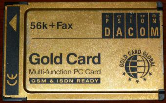 Psion Dacom 56k Fax Gold Card Multi-function PC Card GSM & ISDN Ready S-97-2517-2
