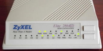 ZyXEL Elite 2864ID ISDN V34 Voice Fax-Modem