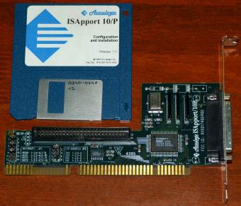 Acculogic ISApport 10/P NCR TollerANT PT-53C406A, FCC-ID: IIV0017400A00 SN: 2578 ISA SCSI-Controller 1994