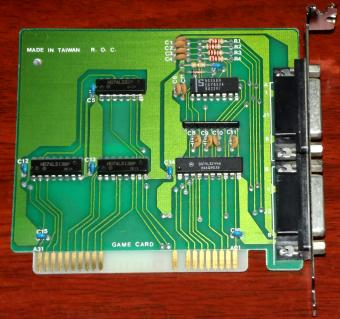 Game Card KTF 018673 ISA Controller 1979