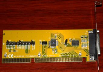 Sunnix 4001 Ver. 8.0 Parallel Port Card FCC-ID: H9MSUN6311 SUN1688CJ44 ISA 1999