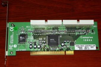 adaptec 1200A IDE Raid Controller HighPoint HPT370A PCI 2005