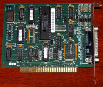 dca Digital Communications Associates Inc. PN: 001207-V201, AMD Z8530H-8PC, Seriell-Card ISA USA 1987