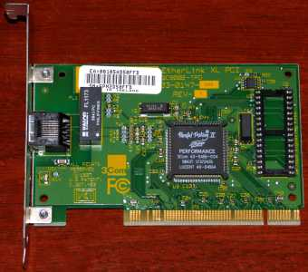 3Com EtherLink XL 3C900B-TPO 03-0147-000 Rev. A Parallel Tasking II Perfomance PCI 1997