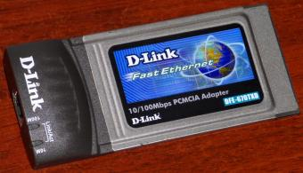 D-Link DFE-670TXD Fast Ethernet 10/100Mpbs PC-Card PCMCIA Adapter