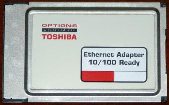 Options Designed for Toshiba, Ethernet Adapter 10/100 Ready Xircom PC Card