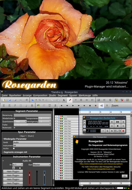 Rosegarden MIDI sequencer