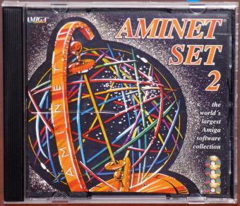 Aminet Set 2 largest AMIGA Software Collection auf 4 CDs, Tools,GFX,Fun,Mods and 300 Electronic Books von Project Gutenberg, Schatztruhe Essen/Germany 1995