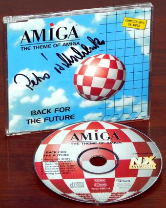 Annex (2) Amiga Back for the Future (The Theme of Amiga) Musik-CD inklusive original Autogramm von AMIGA President Petro Tyschtschenkos 1998