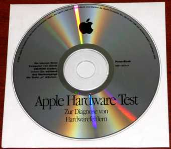 Apple Mac Hardware Test CD PowerBook zur Diagnose von Hardwarefehlern D691-2674-A 2001