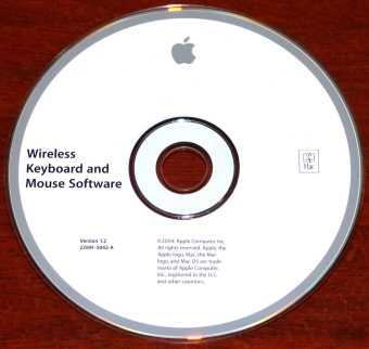 Apple Mac Wireless Keyboard and Mouse Software CD Version: 1.2 2Z691-5042-A 2004
