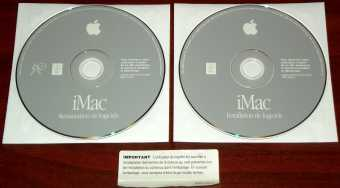 Apple Mac OS 9.04 französische Version - Installation & Restauration de logiciels 2 CDs France