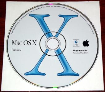 Apple Mac OS X  Version 10.1 Upgrade CD und Developer Tools, September 2001