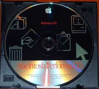 Apple Macintosh Performa 630 Software CD D691-0320-A 1994