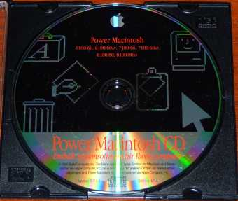 Apple Power Macintosh 6100, 7100, 8100, 8100/80AV Systemsoftware Version D-7.1.2 CD D691-0187-A 1994