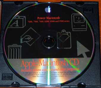 Apple Power Macintosh 7200, 7500, 7600, 8200, 8500 and 9500 Series System Software and other Programs CD Z691-1008-A 1996