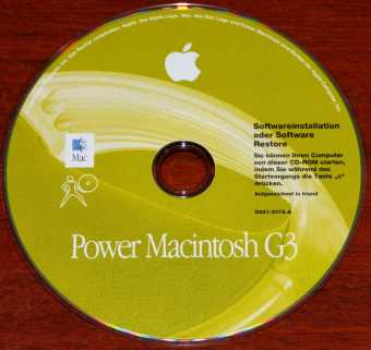 Apple Power Macintosh G3 Mac OS 8.5 (Online Update bis 8.6) Softwareinstallation oder Software Restore CD D691-2078-A 1998