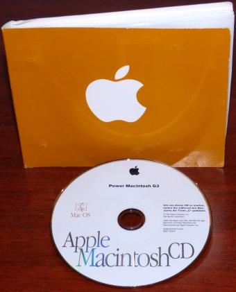 Apple Power Macintosh G3 Mac OS 8 Install CD im Schuber D691-1826-A Irland 1997