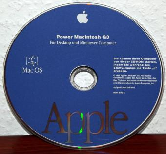 Apple Power Macintosh G3 Starter CD-ROM mit MacOS 8.1 für Desktop und Minitower Computer - 68k & PowerPC 1998