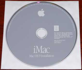 Apple iMac Mac OS 9 Installation CD Version 9.2.2 CD (Codename LU1) D691-3658-A 2002