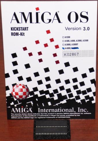 Commodore AMIGA OS Kickstart ROM-Kit Version 3.0 für A4000 Amiga 391513-02 V3.0 39.106 Gateway2000 1992