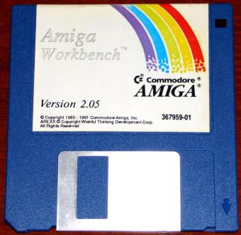 Commodore Amiga Workbench 2.05 Disketten 1985-1991