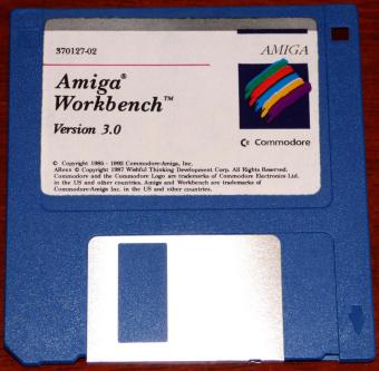 Commodore Amiga Workbench Version 3.0 auf 5 Disketten 1992