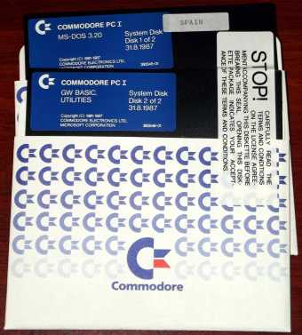 Commodore PC I MS-DOS 3.20 System Disk Spain 5,25