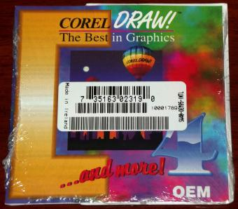 Corel Draw 4.0 Dansk OEM CD NEU&OVP