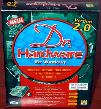 Dr. Hardware 2.0 für Windows 3.11 & 95 CDV CD-ROM 1998