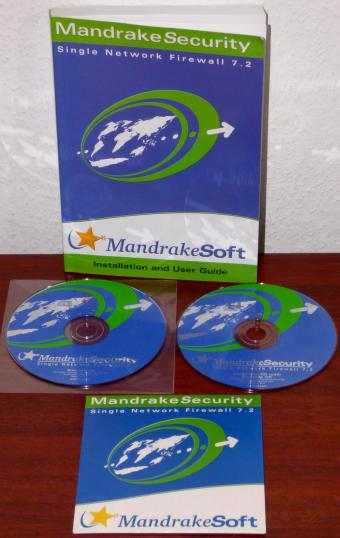 MandrakeSoft MandrakeSecurity Single Network Firewall 7.2 Installation & User Guide inkl. 2 CD-Roms 2001