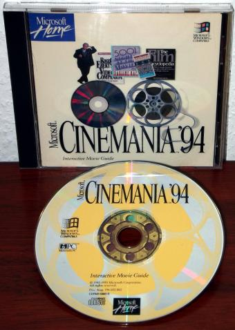 Microsoft Cinemania 1994 Interactive Movie Guide