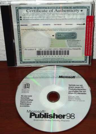 Microsoft Publisher 98 CD