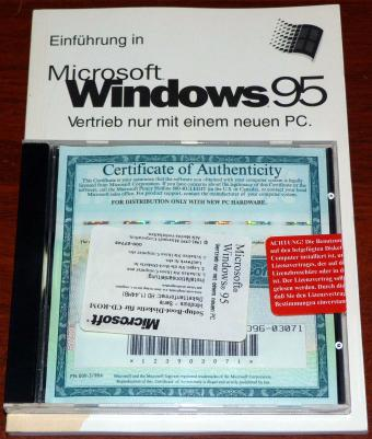 Microsoft Windows 95 OEM inkl. COA & Product Key