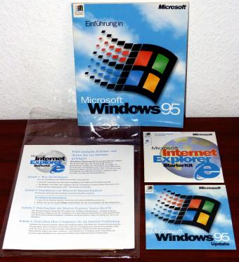 Microsoft Windows 95 Update inklusive Key & Internet Explorer 3.0 Starter Kit für Win/Mac