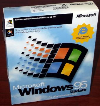 Microsoft Windows 95 Update inklusive Internet Explorer IE4 Neu in OVP