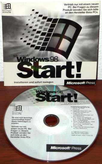 Windows 98 Start! CD Microsoft Press 1998