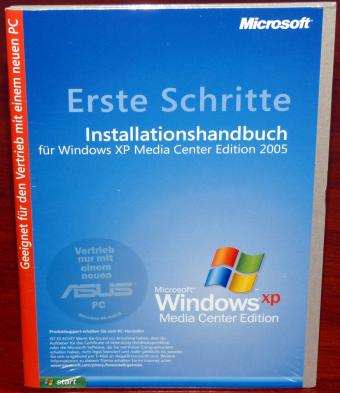 Microsoft Windows XP Media Center Edition (MCE) 2005 ASUS Recovery DVD inkl. COA & Product-Key OVP/NEU